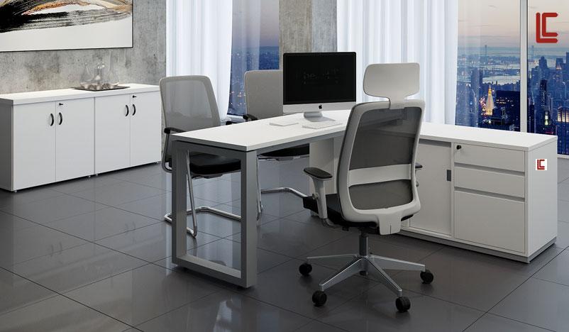 Estação de Trabalho Executiva - Estação de Trabalho Luxo - Moveis para Escritorio SP