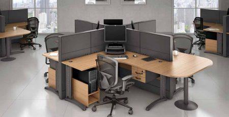 Estação de Trabalho 4 Pessoas Corp, Estação de Trabalho 4 Pessoas Fortline