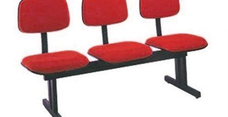 Longarina 3 lugares, sofá para recepção, móveis para escritório em SP