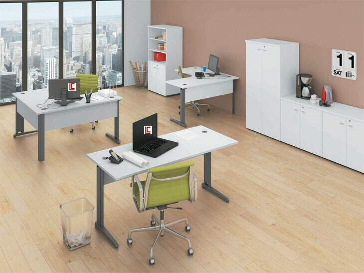 Mesa de Trabalho Smart LC - Mesas Para Escritório - Moveis para Escritorio SP