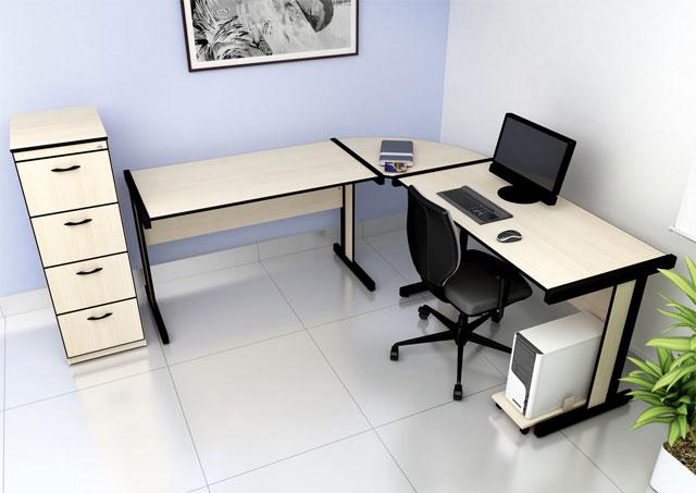 Mesa em L Light - Estação de Trabalho Econômica - Moveis para Escritorio SP