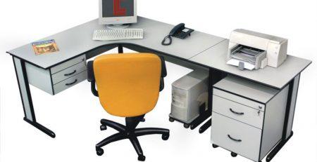 Mesa em L promocional; Mesa em L promoção