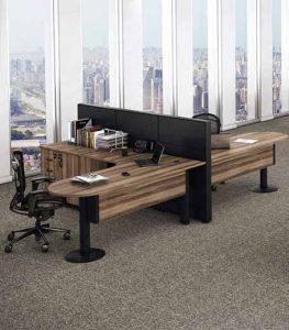 Mesa em L Península 1 Fortline, Mesa para escritorio SP