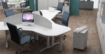 Estação de Trabalho para 3 Usuários Fortline, Estação de Trabalho para 3 Usuários Corporativa