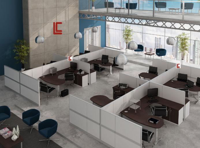 Estação de Trabalho com Biombos – Top - Estação de Trabalho Top - Moveis para Escritorio SP