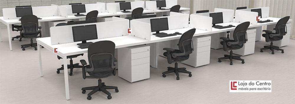 Mesa Plataforma 8 Lugares - Mesas Plataforma - Mesão - Moveis para Escritorio SP