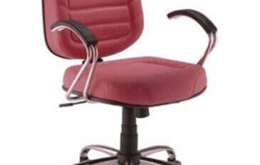 Cadeira Diretor Gomada Italic - Vermelha - Cromada