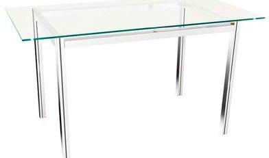 Mesa cromada, mesa com tampo de vidro, móveis para escritório em SP