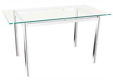 Mesa de vidro cromada - _destaque - Moveis para Escritorio SP