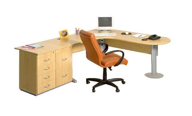 Mesa Para Escritório Plus - Detalhe dos Gaveteiros