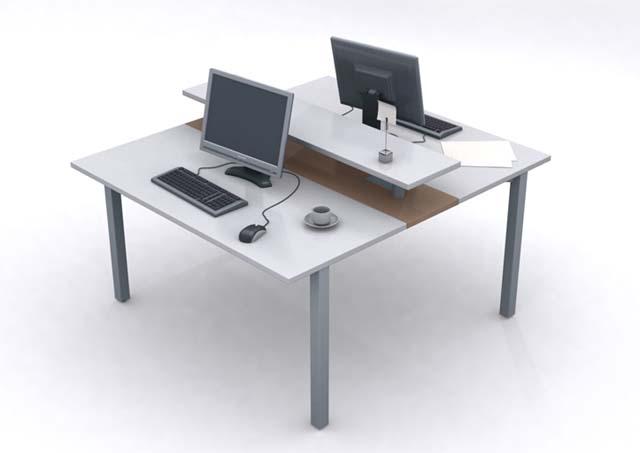 Mesa Plataforma 2 Lugares - Estações de Trabalho - Moveis para Escritorio SP