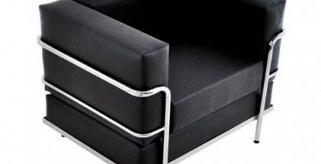 Sofá 1 Lugar Vip Le Corbusier, sofá para escritório, sofá para recepção