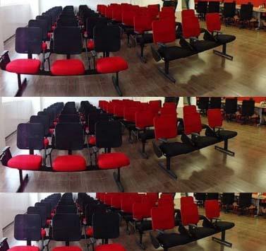 Longarina 3 Lugares Tela - Cadeira Universitária - Moveis para Escritorio SP
