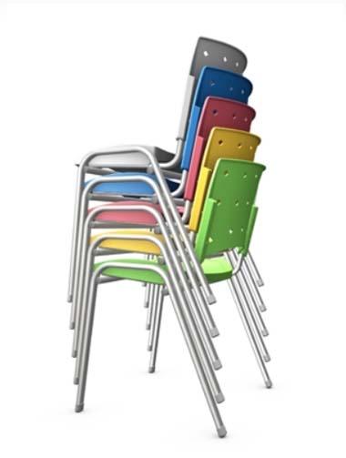 Cadeira Empilhável Ergo - Cadeira de plástico - Moveis para Escritorio SP
