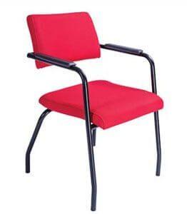Cadeira Fixa Slim - Vermelha