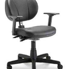 Cadeira Para Computador Secretária Operativa - Preta - Vista Frontal