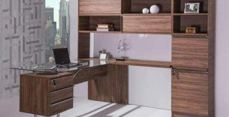 Mesa diretor, mesa de vidro