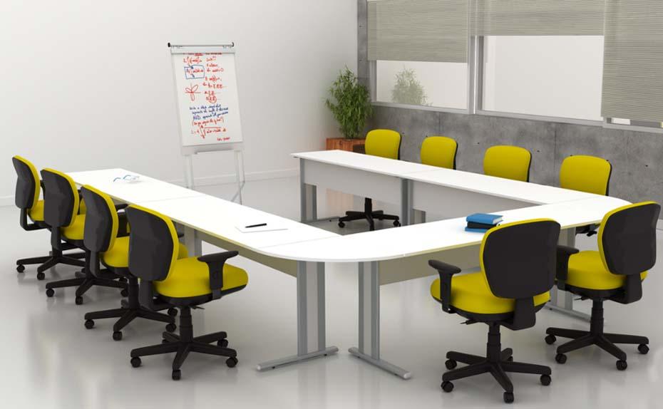Mesa para treinamento em U - Mesas Para Treinamento - Moveis para Escritorio SP