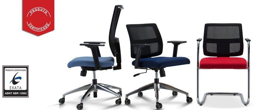 Modelos de Cadeira Fixa Tela ou Giratória