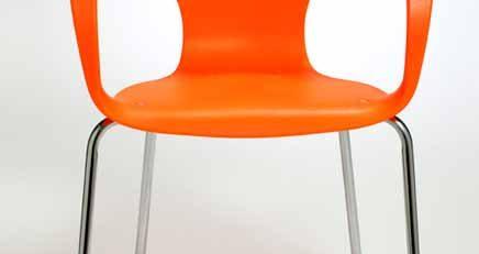 Cadeira Design Jim Laranja, Cadeira Jim Empilhável
