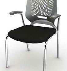 Cadeira Fixa 4 Pés Cromada