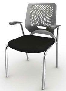 Cadeira Fixa 4 Pés Cromada - Cadeira de plástico - Moveis para Escritorio SP