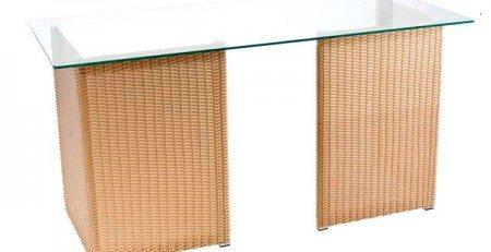Mesa de Vidro com Junco para consultórios, mesa de junco com vidro, mesa escritório sp