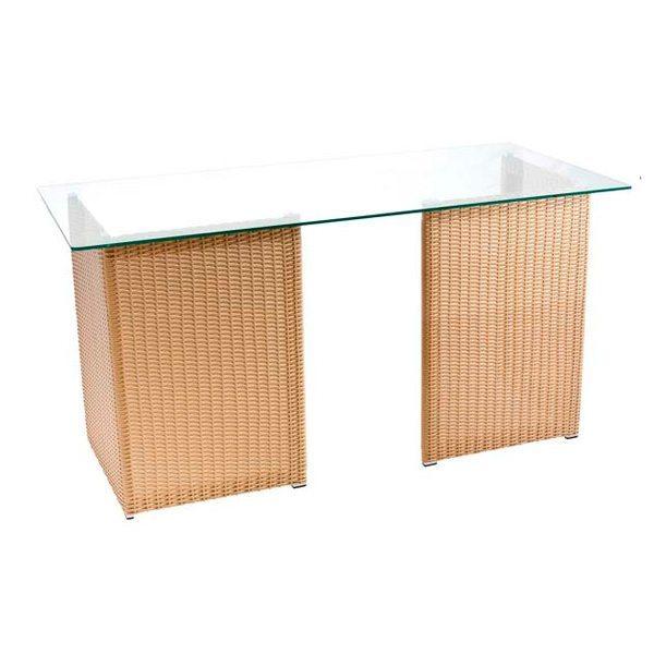 Mesa de Vidro com Junco 2 - Base para mesa cromada vidro - Moveis para Escritorio SP
