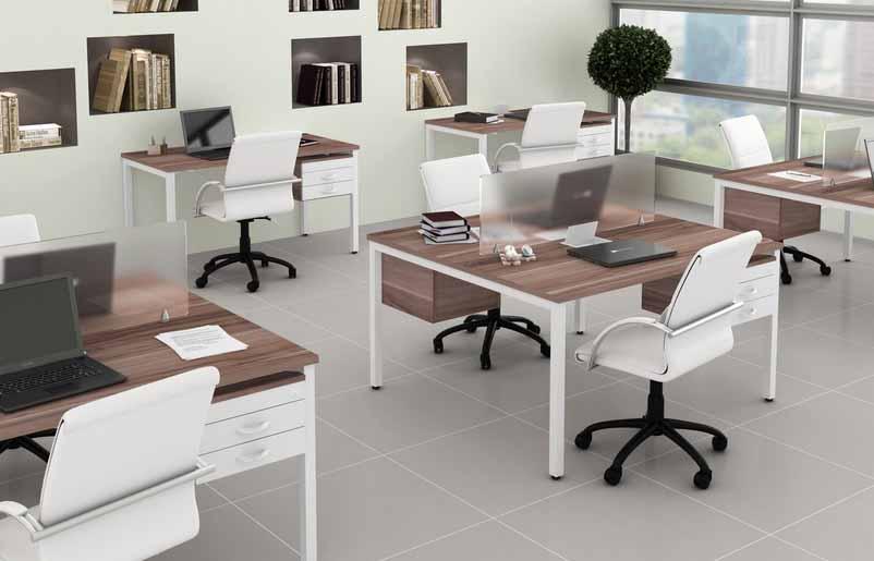 Mesa Plataforma 2 Lugares Corp - Estação de Trabalho Luxo - Moveis para Escritorio SP