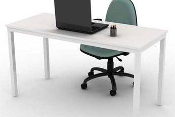 Mesa Para Escritório Reta - Branca