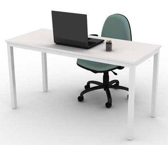 Mesa para escritório reta BEA - Mesas básicas - Moveis para Escritorio SP
