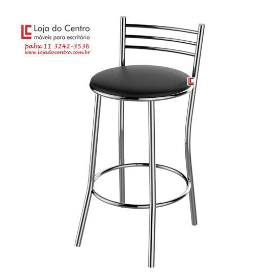Banqueta Alta Cromada - Banquetas - Moveis para Escritorio SP