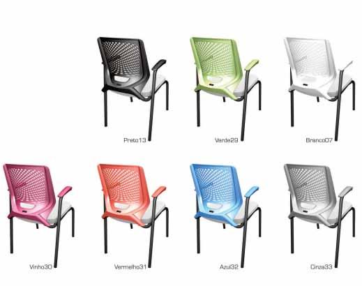 Cadeira Fixa Estofada - Diversidade de Cores