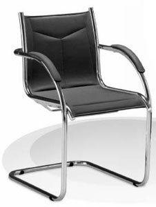 Cadeira Fixa Reunião Sent branca, Cadeira Fixa Reunião Sent preta