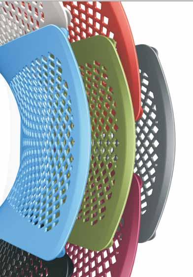 Cadeira Fixa Estofada - Opções de Encosto