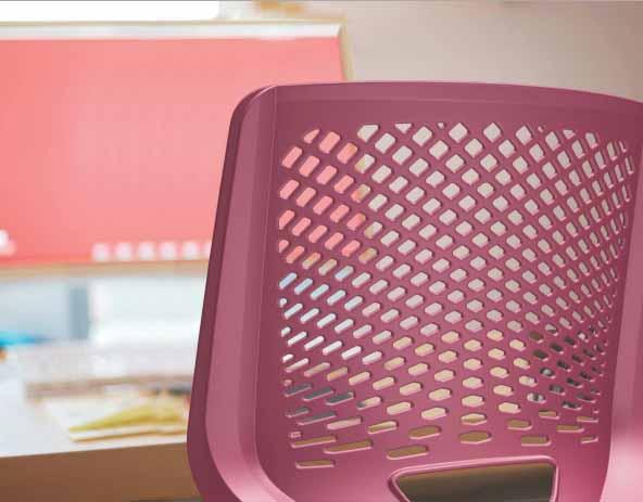 Cadeira Fixa Estofada - Detalhe do Encosto
