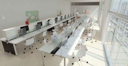 Estação de trabalho, ilha de trabalho, mesão, móveis para escritório em SP
