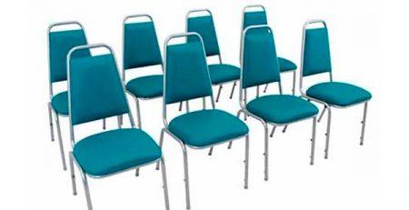 Cadeira Empilhável Estofada STH - Auditório