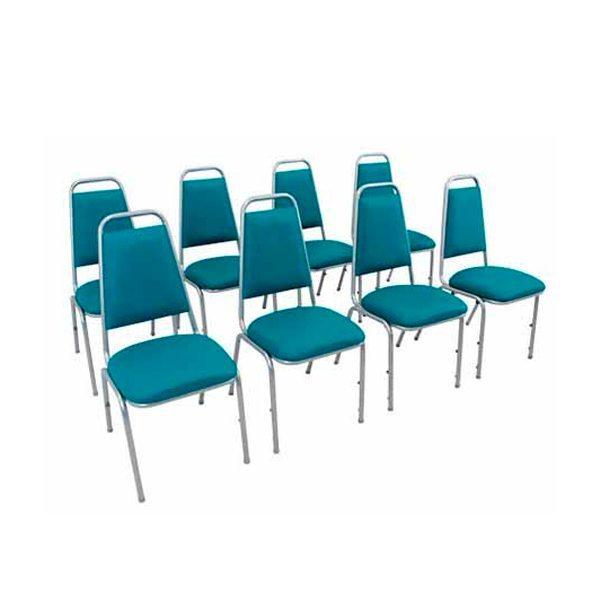 Cadeira empilhável estofada STH - _destaque - Moveis para Escritorio SP