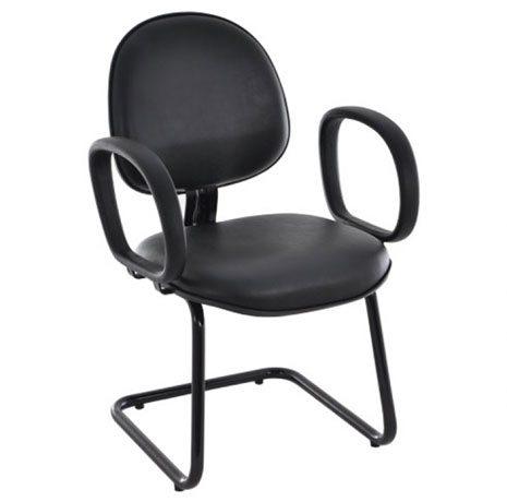 Cadeira Fixa com Braços - Cadeira Executiva Secretária - Moveis para Escritorio SP