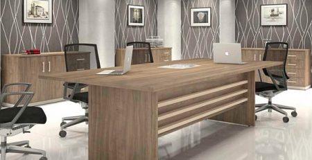Mesa de Reunião Retangular Person - Cadeiras em tela