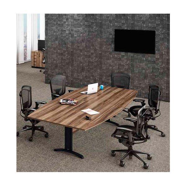 Mesa de Reunião Semi Oval - Mesas Para Reunião - Moveis para Escritorio SP