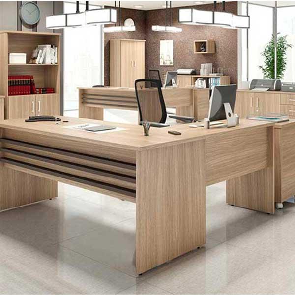 Mesa executiva promo o for Medidas mesa escritorio