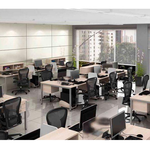 Mesa Plataforma 6 Lugares Corp - Destaque Estacoes - Moveis para Escritorio SP