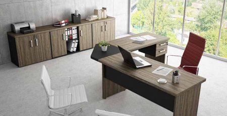 Mesa em L diretoria, móveis para escritório em SP