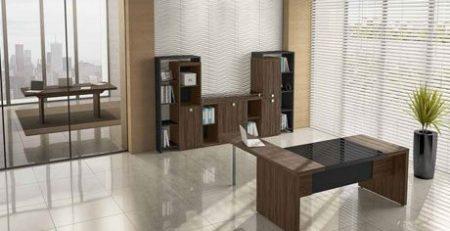 Mesa diretor, mesa com tampo de vidro, móveis para escritório em SP