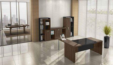 Mesa diretor 50mm com tampo de vidro - Destaque - Moveis para Escritorio SP
