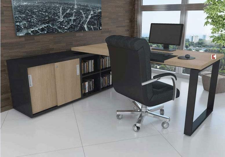 Mesa Executiva com Armário - _destaque-moveis-avulsos - Moveis para Escritorio SP