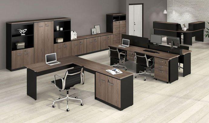 Mesa para escrit rio y 30mm contempor nea gaveteiro - Mesa escritorio l ...