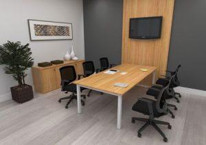 Mesa de Reunião Linha Plataforma - Painel de TV